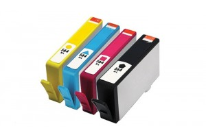 Complete set of 4 HP 564XL Compatible Inkjet Cartridges