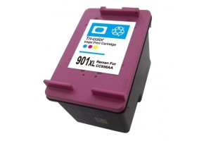 HP 901XL (CC656AN) Tri-Color, High-capacity Remanufactured Inkjet Cartridge